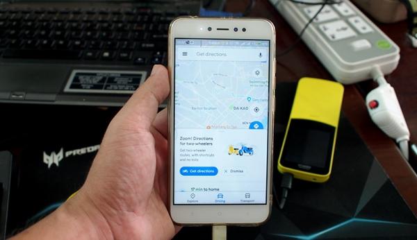Google Maps tại Việt Nam đã có chỉ đường cho xe máy