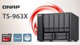 QNAP TS-963X: 9 khay ổ cứng, CPU AMD