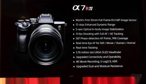 Sony A7R IV chính thức trình làng với nhiều nâng cấp sáng giá