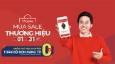 Shopee khởi động 'Mùa sale thương hiệu'