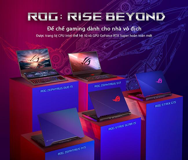 ASUS ROG công bố loạt laptop trang bị CPU Intel Core thế hệ 10