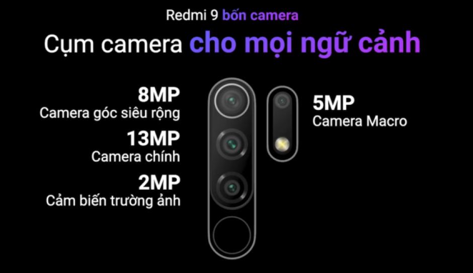 Chi tiết về Redmi 9 - chiếc smartphone tầm trung mới của Xiaomi vừa ra mắt tối qua