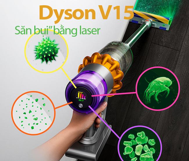 "Dyson V15: Săn bụi"" bằng laser"