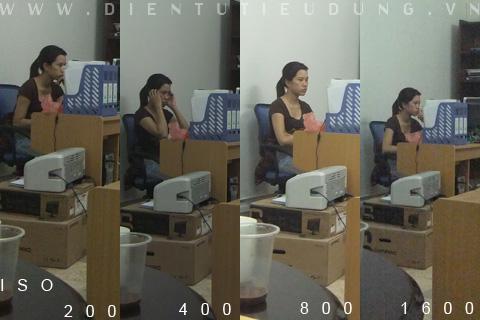 Sự thay đổi về chất lượng ảnh từ ISO 100-1600 của Fujifilm Finepix Real 3D W1