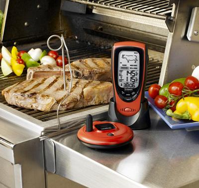Chiếc nhiệt kế được lập trình sẵn cho từng loại thực phẩm riềng biệt.
