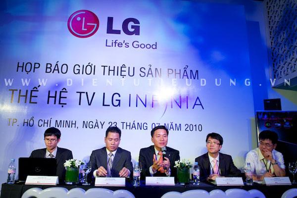Đại diện tập đoàn LG Electronics tại buổi ra mắt sản phẩm