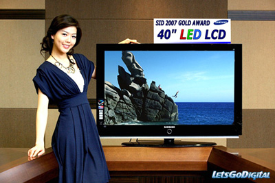 Một mẫu TV LED của SamSung. Ảnh: Let'sGoDigital