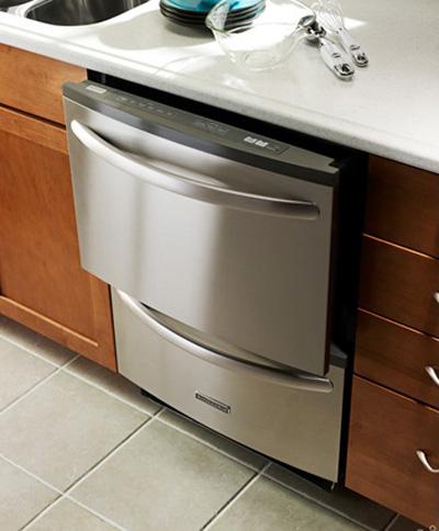 Có thể gắn vào tủ bếp để tiết kiệm diện tích. Ảnh: Kithchen Aid