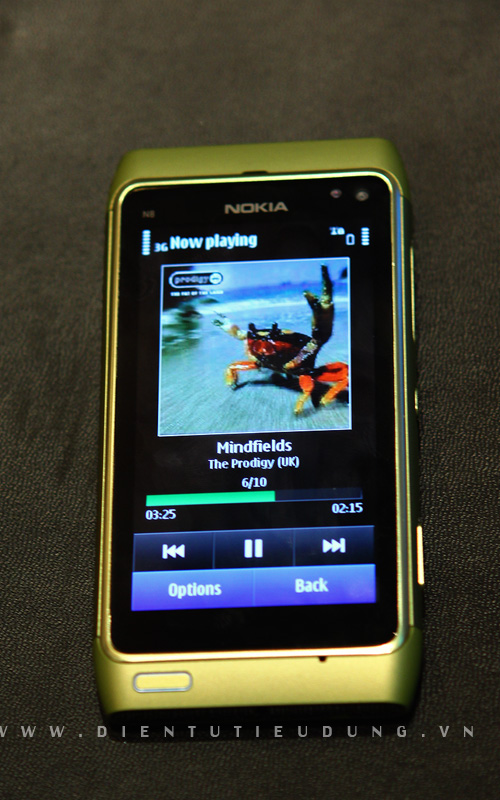 Nokia N8 Review Music screen
