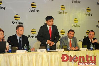 ông Nguyễn Văn Dư, Tổng giám đốc Tổng Công ty GTEL tại buổi họp báo ra mắt thương hiệu Beeline