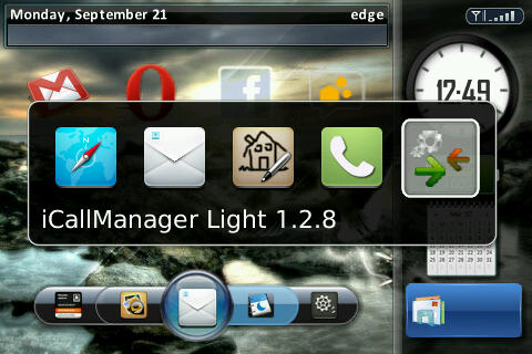 Blackberry i,Call Manager