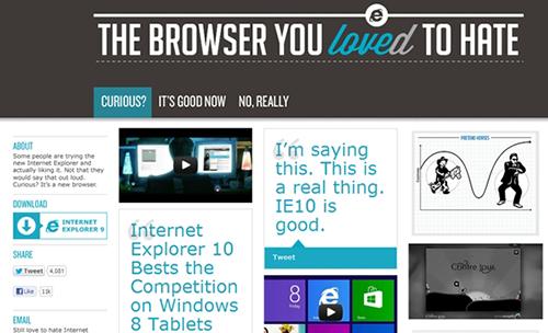 Microsoft, IE, Internet Explorer, Windows 7, Windows 8, cong nghe, quang cao
