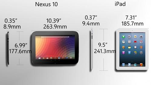 Google Nexus 10, google nexus, nexus 10, cong nghe, may tinh bang