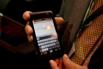 Bàn phím ảo của TG01. Ảnh: New Technology