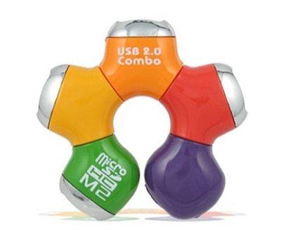 USB kiềm đầu đọc thẻ nhớ hình bông hoa. Ảnh: Hardware Sphere