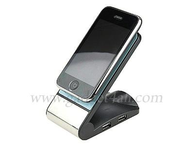 Cổng USB kiềm luôn giá đỡ điện thoại. Ảnh: Gadget 4 All