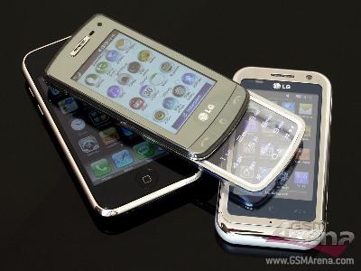 LG GD900 bền cạnh LG Arena và iPhone 3GS. Ảnh: GSM Arena