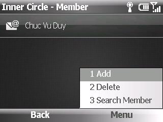 Ứng dụng Inner Circle mới