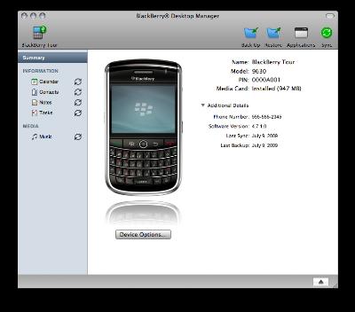 BlackBerry Desktop trền nền Mac. Ảnh: BlackBerry