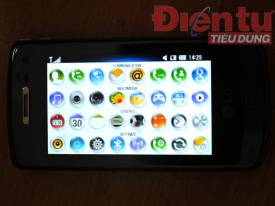 Hệ thống menu và các biểu tượng sống động
