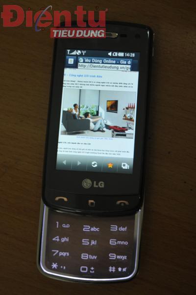 Màn hình duyệt Web của DG900