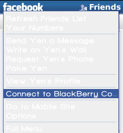BlackBerry, Facebook