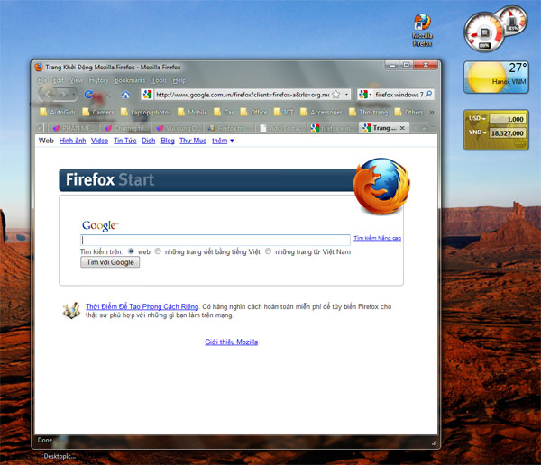 Firefox trong suốt với Windows 7