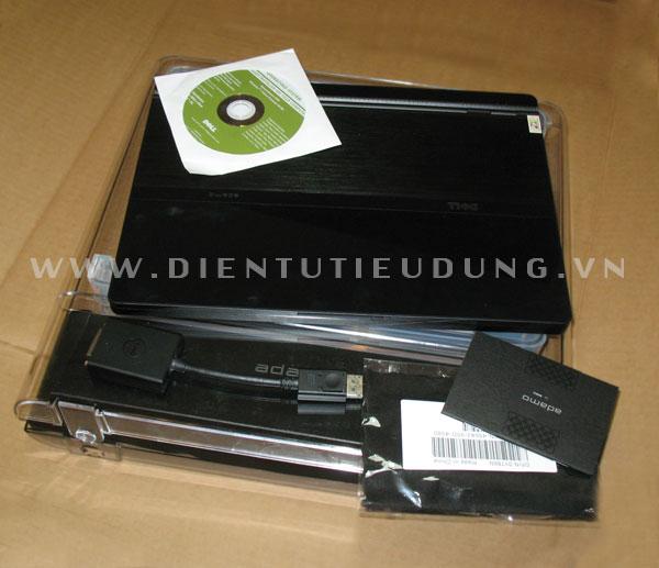 Dell Adamo có hộp và phụ kiện đi kèm rất đơn giản