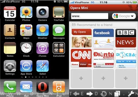 Apple, iPhone, Opera Mini, Web browser