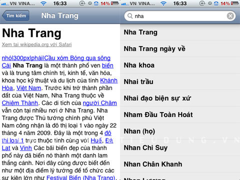 Tra Wikipedia offline trền iPhone