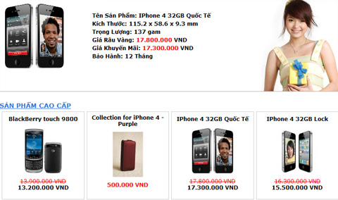 iPhone 4, Apple, Vinaphone, Viettel