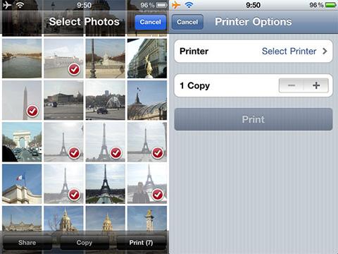 iOS, Airprint
