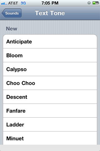 iPhone, iOS, text Tone