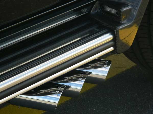 3 ống xả mạ chrome bền sườn theo phong cách SLR