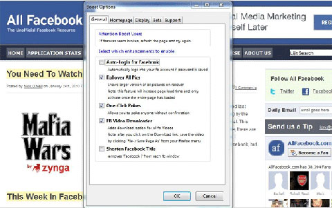 Firefox addons for Facebook