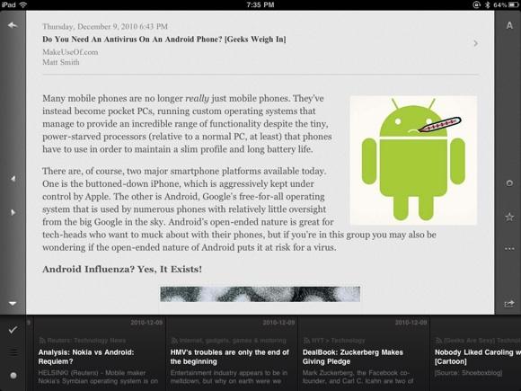 News Reader for iPad