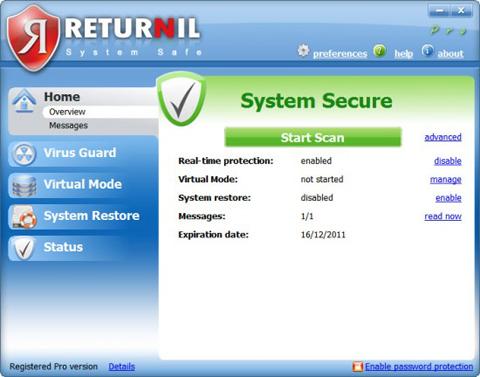 Returnil System Safe Pro