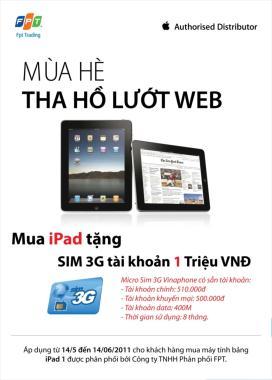 iPad, FPT, khuyen mai