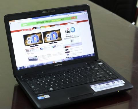Toshiba Satellite C600-1009U, cận cảnh, hands on, unbox, hình ảnh thực tế