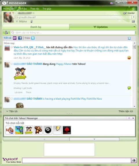 Yahoo messenger 11 final, chat, nhắn tin nhanh, tính năng, cải tiến