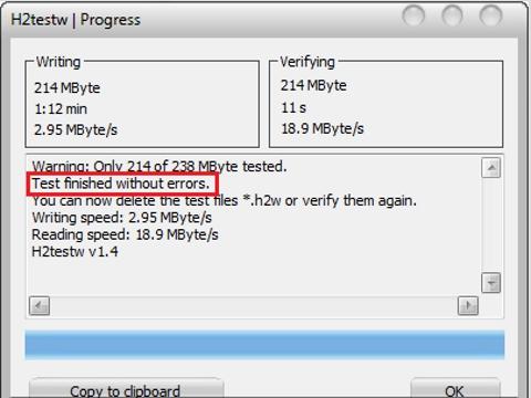 H2testw, USB, kiểm tra lỗi, phát hiện usb giả, nhái, thủ thuật, tip, trick
