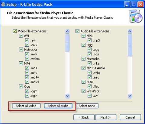 Media Player Classic (MPC), VLC Media player, KM Player,