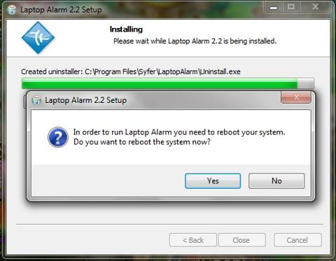 Laptop Alarm, thủ thuật, mẹo vặt, tip, trick, báo động, chống trộm, chống mất cắp máy tính