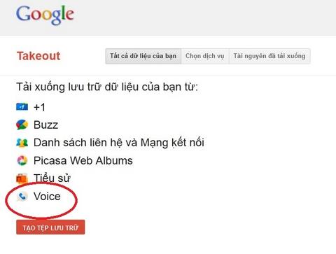 Google Takeout,  Google Voice, Google, Web-news