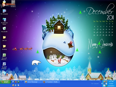 Noel, Snow Desktop, Snow for Windows, thủ thuật, tip, trick