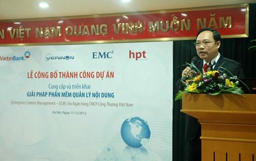 PR-news, EMC, Verinon, Vietinbank