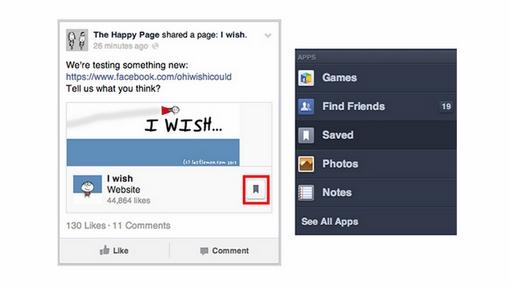 Facebook, save link, web-news