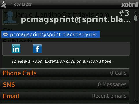 BlackBerry Xobni Mobile