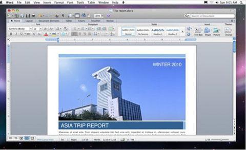 Microsoft Office 2011 cho Mac sẽ ra mắt cuối tháng 10.