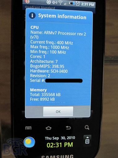 Samsung i400 Continuum